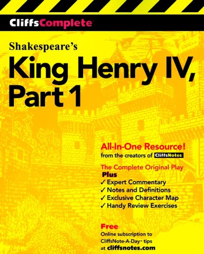 9780764585708: King Henry IV: Complete Study Edition Pt.1 (Cliffs Notes)
