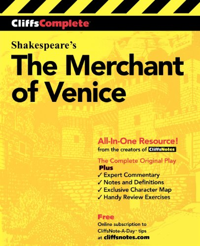 9780764585753: The Merchant of Venice: Complete Study Edition (Cliffs Notes)