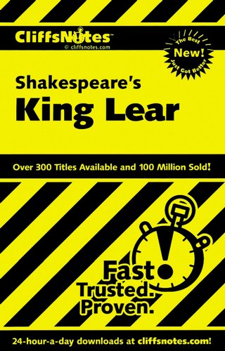 "9780764585821: Notes on Shakespeare's ""King Lear"" (Cliffs Notes)"