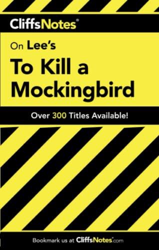 9780764586002: To Kill a Mockingbird (Cliffs Notes)
