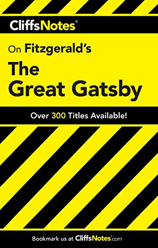 9780764586019: CliffsNotes on Fitzgerald's The Great Gatsby