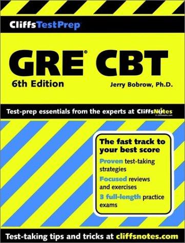 9780764586125: CliffsTestPrep GRE CBT (Cliffs Preparation Guides)