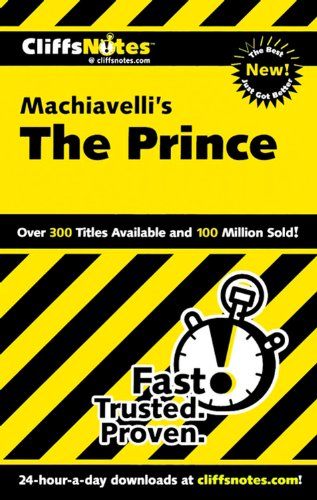 """9780764586637: Machiavelli's """"The Prince"""" (Cliffs Notes S.)"""