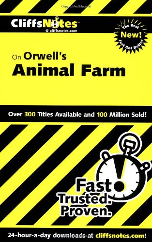 9780764586699 CliffsNotes On Orwells Animal Farm Dummies Trade