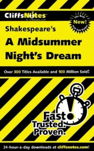 9780764586729: CliffsNotes on Shakespeare's A Midsummer Night's Dream (Cliffsnotes Literature Guides)