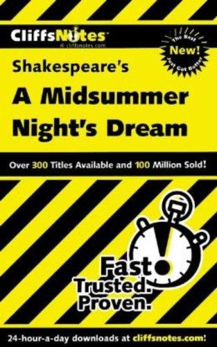 9780764586729: Cliffsnotes Shakespeare's a Midsummer's Night's Dream