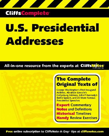 9780764587191: Cliffscomplete American Historical Documents II: Presidential Addresses (Cliffs Complete Study Editions)