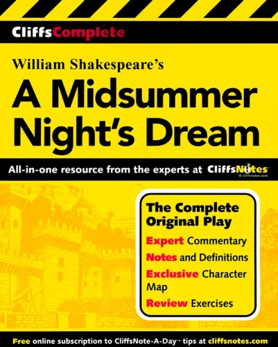 9780764587252: Cliffscomplete Shakespeare's a Midsummer Nights Dream: Complete Text, Commentary, Glossary