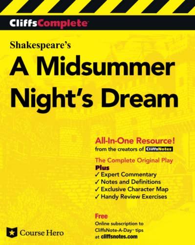 9780764587252: CliffsComplete A Midsummer Night's Dream