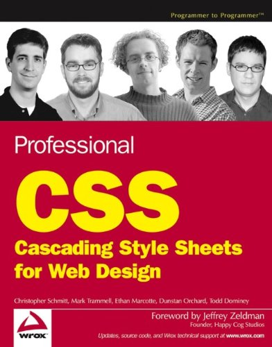 9780764588334: Professional CSS: Cascading Style Sheets for Web Design