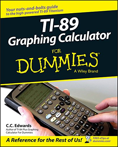 9780764589126: TI-89 Graphing Calculator For Dummies