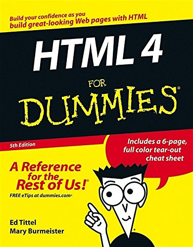 9780764589171: HTML 4 For Dummies, 5th Edition