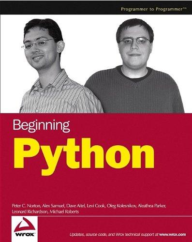 9780764596544: Beginning Python (Programmer to Programmer)