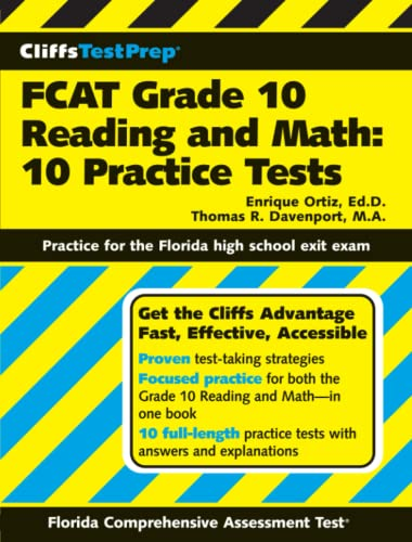 9780764599330: CliffsTestPrep FCAT Grade 10 Reading and Math: 10 Practice Test