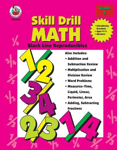 9780764703898: Skill Drill Math: Fractions, Grade 5 (Black Line Reproducibles)