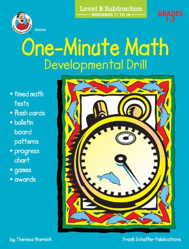 9780764703942: One-Minute Math Developmental Drill, Level B: Subtraction, Minuends 11 to 18, Grades 1-2