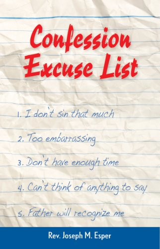 9780764818639: Confession Excuse List