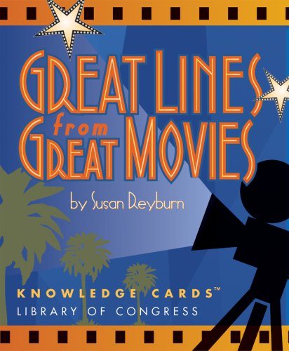 Great Lines From Great Movies Knowledge Cards Deck (0764925695) by Pomegranate; Susan Reyburn