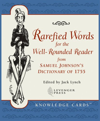 9780764928833: Rarefied Words for the Well-Rounded Reader from Samuel Johnson's Dictionary of 1755 Knowledge Cards Deck