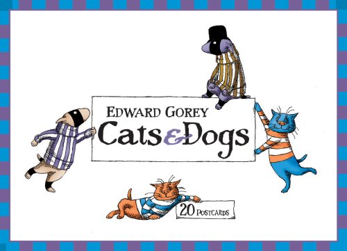 9780764933851: Edward Gorey Cats and Dogs Postcards: Box of 20 postcards, 10 each of 2 designs