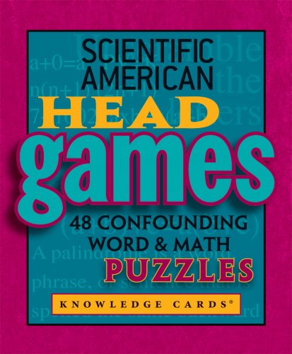 9780764945502: Scientific American: Head Games - 48 Confounding Word & Math Puzzles Knowledge Cards Deck