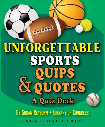 Unforgettable Sports Quips & Quotes Knowledge Cards Deck: Pomegranate