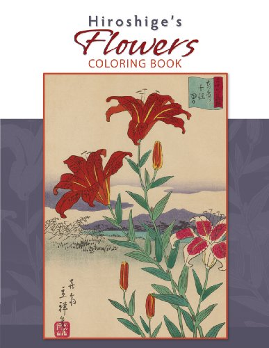 9780764950278: Hiroshige's Flowers Coloring Book