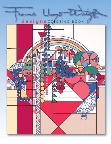 9780764950308: Designs by Frank Lloyd Wright Coloring Book (Frank Lloyd Wright Collection)