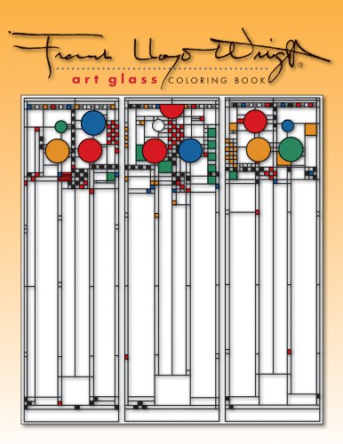 9780764950346: Frank Lloyd Wright Art Glass Coloring Book
