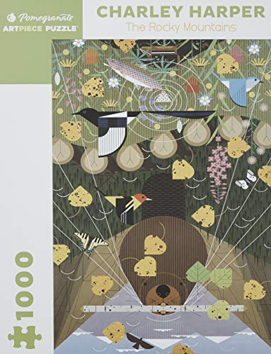 9780764954238: The Rocky Mountains 1000-Piece Jigsaw Puzzle Aa638 (Charley Harper Jigsaw Puzzle)