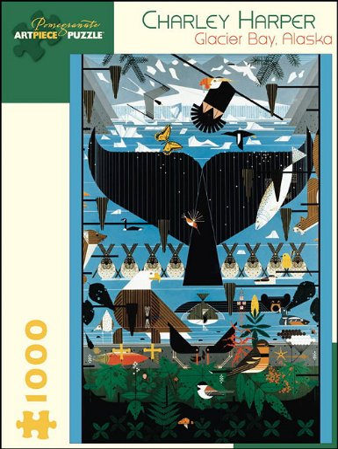 9780764954245: Charley Harper Glacier Bay Alaska 1 000-Piece Jigsaw Puzzle Aa639 (Pomegranate Artpiece Puzzle)