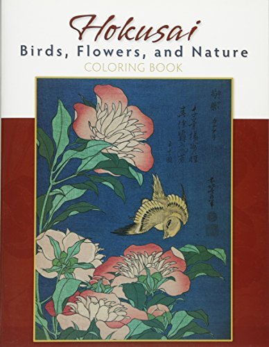 9780764955228: Hokusai: Birds, Flowers, and Nature Coloring Book