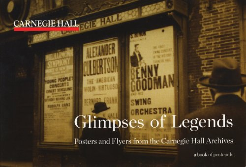9780764960628: Carnegie Hall Glimpses of Legends Book of Postcards