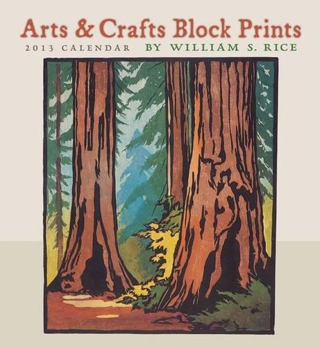 9780764960772: Arts & Crafts Block Prints 2013 Calendar
