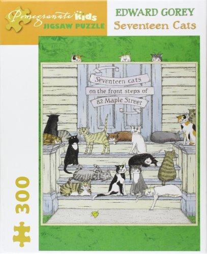 9780764962790: Edward Gorey - Seventeen Cats: 300 Piece Puzzle