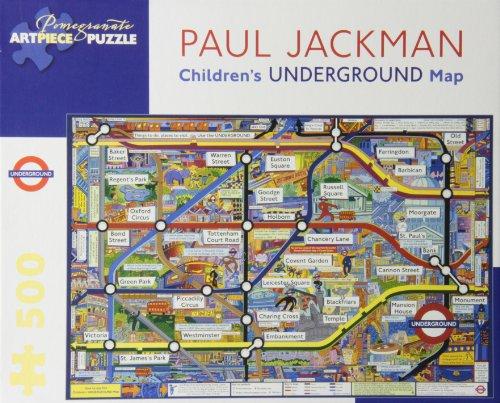 9780764963001: Children'S Underground Map 500-Piece Jigsaw Puzzle Aa736