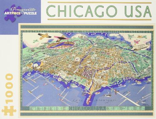 9780764963070: Chicago USA: 1,000 Piece Puzzle (Pomegranate Artpiece Puzzle)