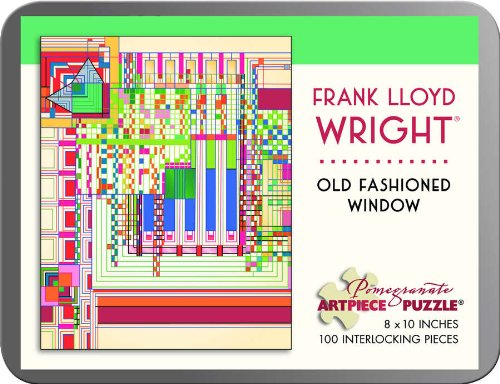 9780764964084: Frank Lloyd Wright - Old -fashioned Window: 100 Piece Puzzle