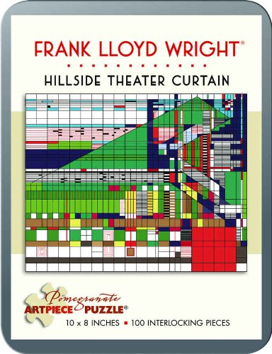 9780764964091: Frank Lloyd Wright - Hillside Theater Curtain: 100 Piece Puzzle, 8 x 10 Inches