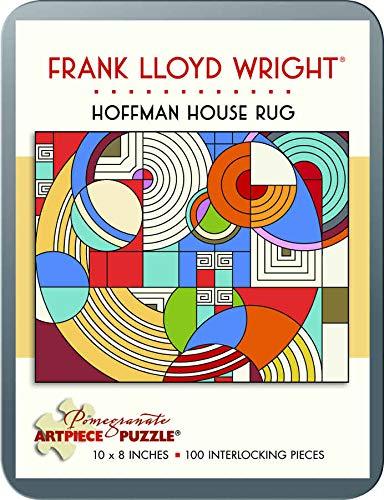 9780764964107: 100 Piece Tin Puzzle Frank Lloyd Wright/Hoffman Rug