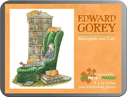 9780764964145: Edward Gorey - Bibliophile With Cats: 100 Piece Puzzle