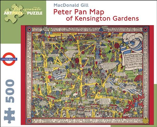 9780764964756: 500-Piece Puzzle Gill/Peter Pan Map (Pomegranate Artpiece Puzzle)