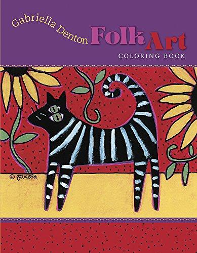 9780764965494: Gabriella Denton Folk Art Coloring Book