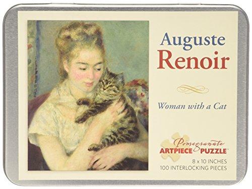 9780764966880: Pierre Auguste Renoir - Woman With Cat: 100 Piece Puzzle
