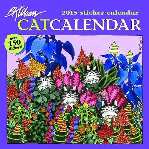 9780764967429: Kliban/Catcalendar 2015 Sticker Calendar