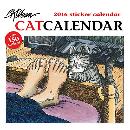 9780764969676: Kliban/Cat 2016 Sticker Calendar