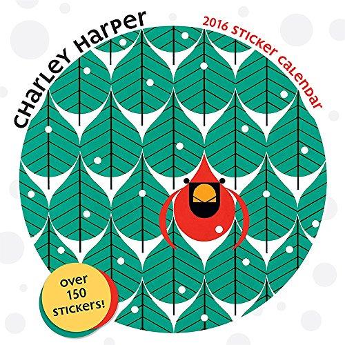 9780764970597: Charley Harper 2016 Sticker Calendar