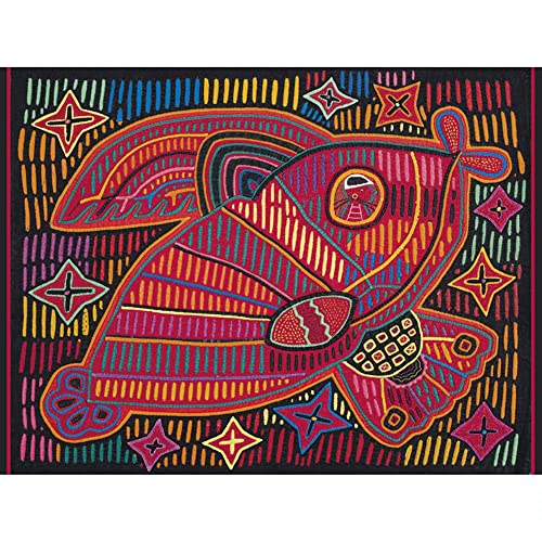 Mola Design Pattern from Panama 300-Piece Jigsaw Puzzle Jk048 (Hardcover)