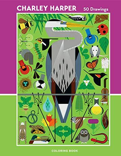 Charley Harper: 50 Drawings Coloring Book: Harper, Charley