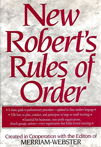 9780765197115: The New Robert's Rules of Order